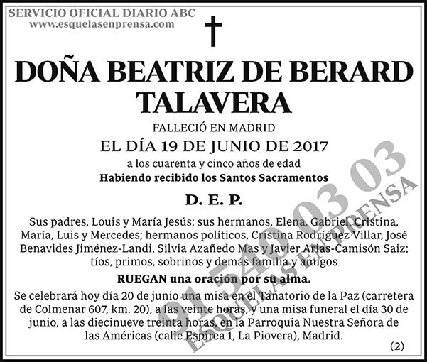Beatriz de Berard Talavera